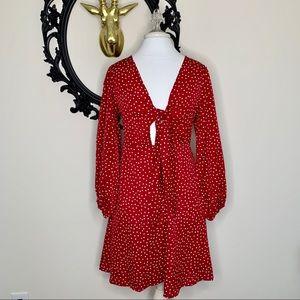 ✨ NWT Fashion Brand Red Polka Dot Dress